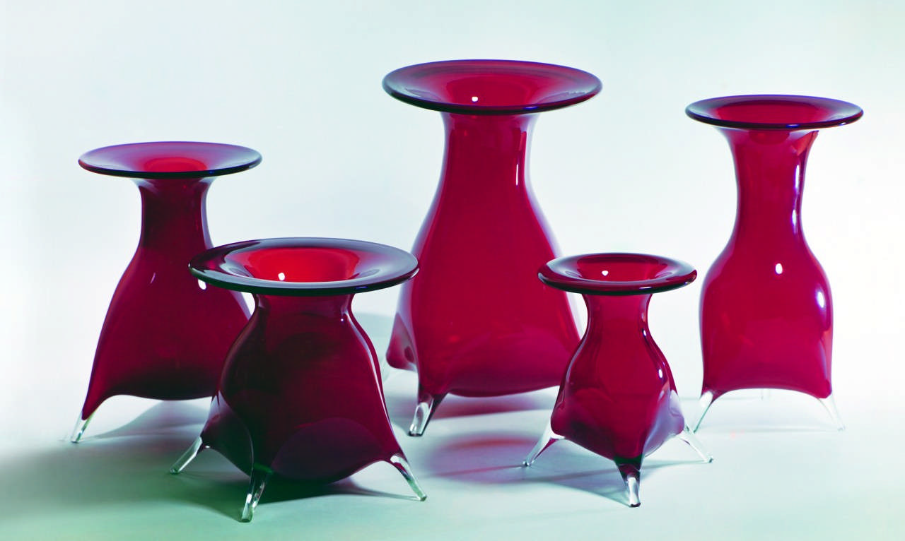 Декоративні вази «Червоні»(5)